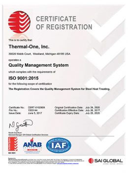 Thermal One ISO Certified